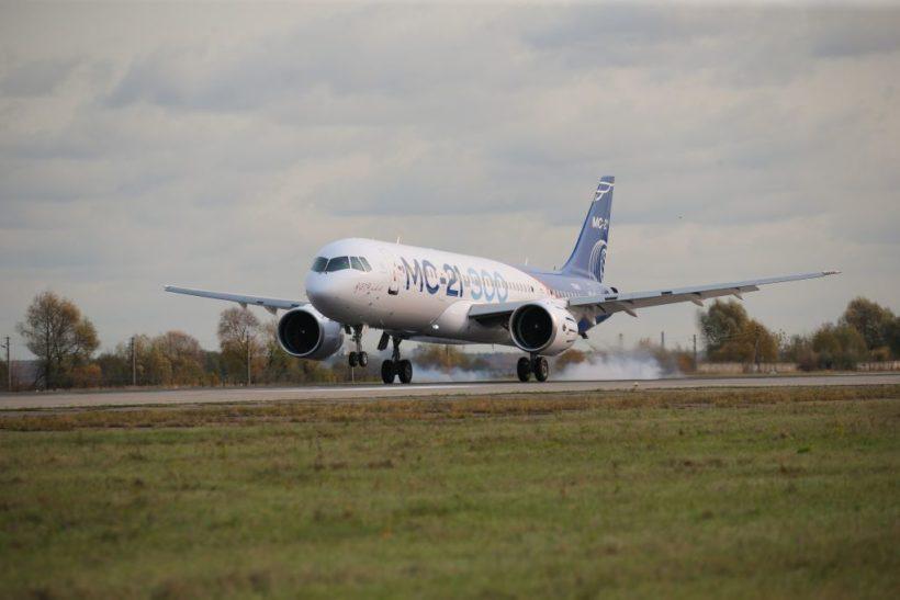 Самолет МС-21-300 совершил беспосадочный перелет из Иркутска в Жуковский