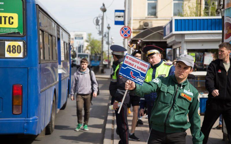 Акция по безопасности дорожного движения прошла в Иркутске