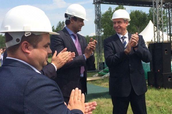 Первый колышек забили на строительстве фармацевтического завода в Усолье
