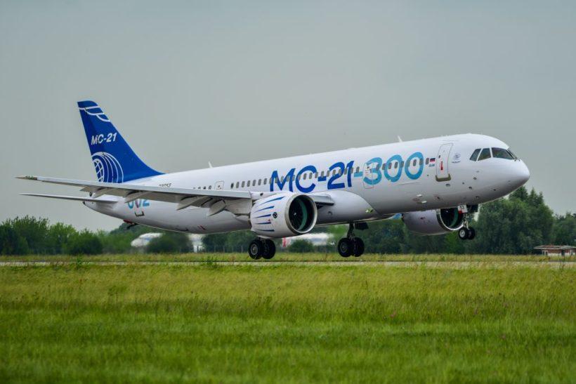 Второй опытный самолет МС-21-300 совершил перелет из Иркутска в Подмосковье