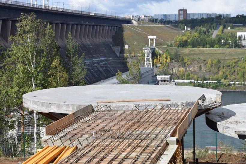 В Братске строят смотровую площадку с видом на ГЭС