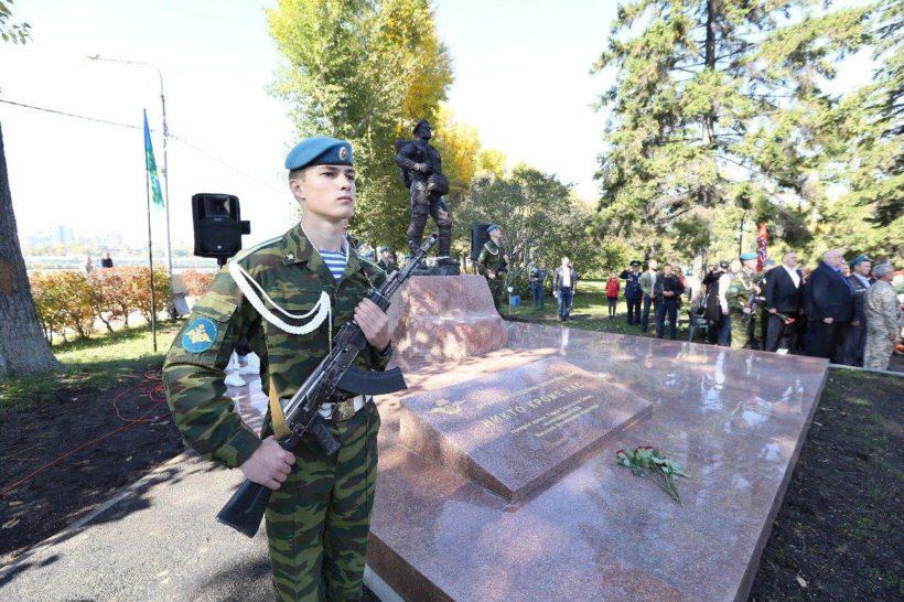 Памятник и сквер ветеранам–десантникам открыли в Иркутске