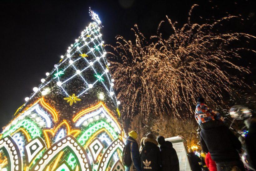 Открытие главной новогодней ёлки. Фоторепортаж