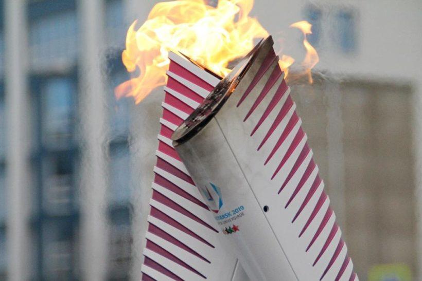 Огонь Универсиады в Иркутске