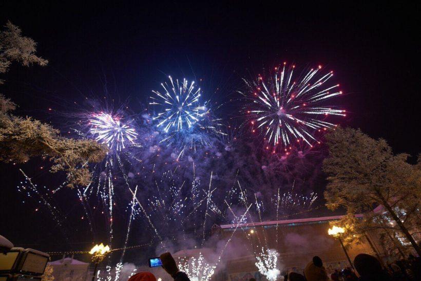 Иркутск встретил Новый год