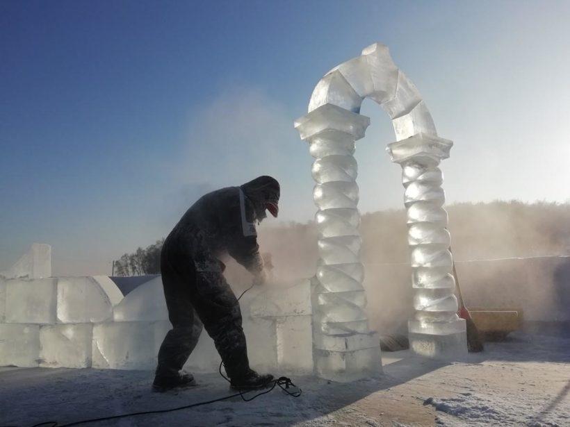 Строительство иордани в Иркутске. Фоторепортаж