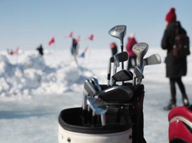 Турнир по ледовому гольфу на Байкале. Фоторепортаж