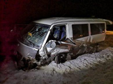 Маршрутный автобус попал в ДТП на автодороге Качуг-Иркутск