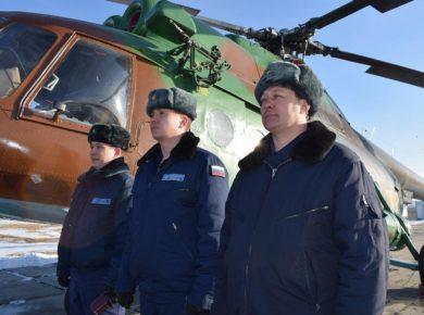 Новый вертолет поступил на вооружение иркутской Росгвардии