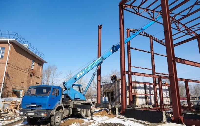Спортивный модуль строят для школы №29 в Иркутске