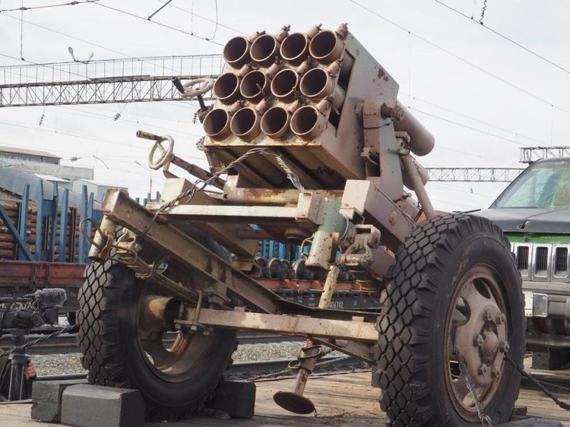 В Братске побывал эшелон с трофейным оружием сирийских боевиков