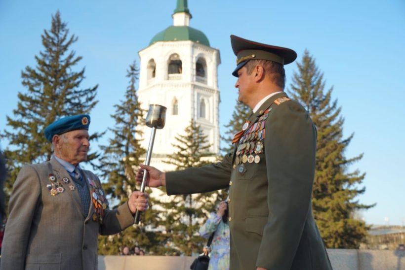 Пламя гордости за Победу пронесли по Иркутску