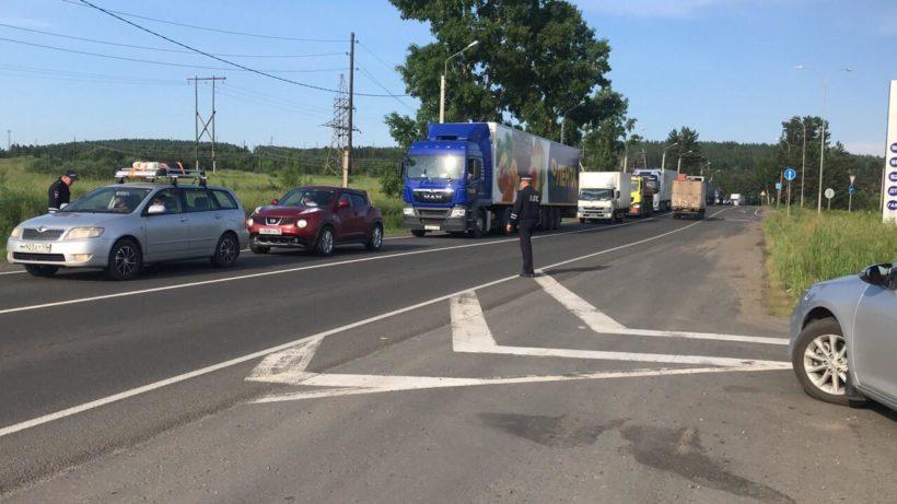 Автодорога в Тулуне в стороны Иркутска и Братска закрыта