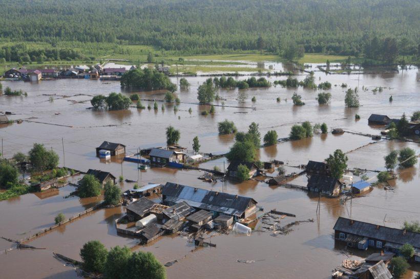 Фоторепортаж с затопленных территорий Приангарья от МЧС
