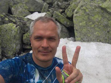 Ультрамарафонец Дмитрий Ерохин начал свое кругобайкальское путешествие. Он намерен установить мировой рекорд