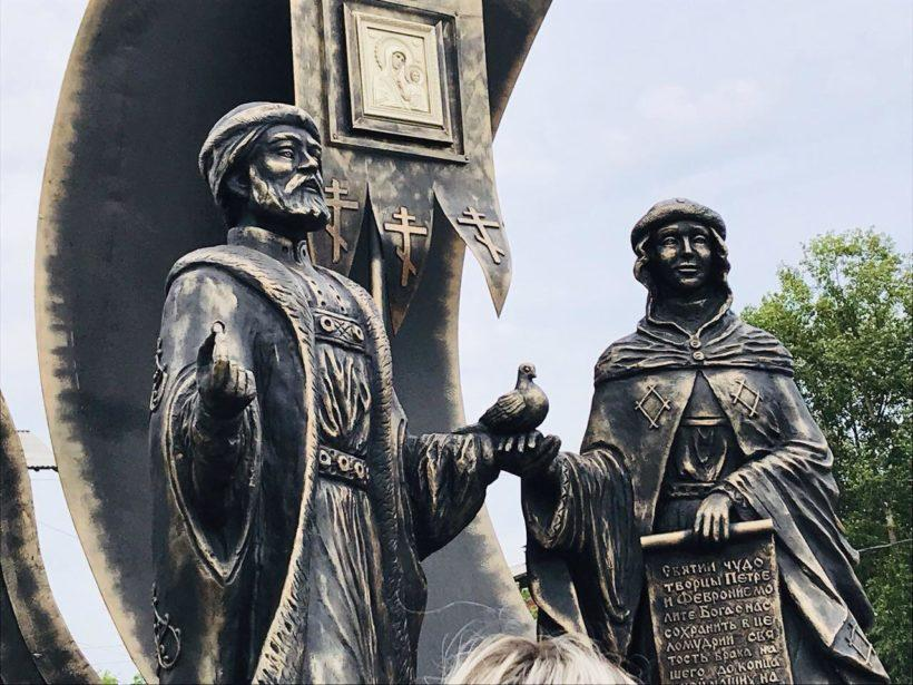 Памятник Петру и Февронии открыли в Черемхово