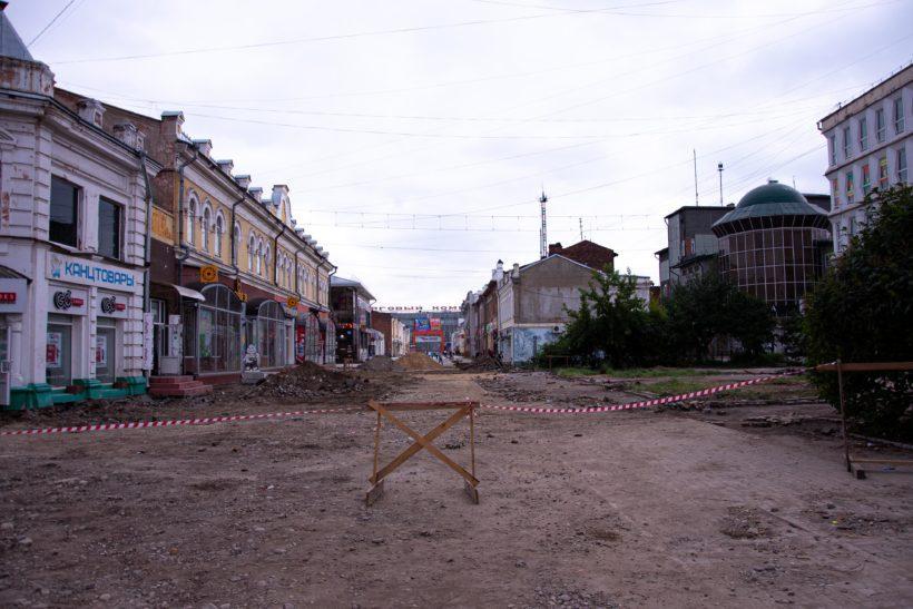 Реконструкция улицы Урицкого в Иркутске продолжается. Фоторепортаж с места