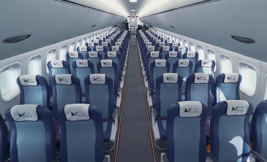 Каков МС-21 внутри? Видео из салона самолета