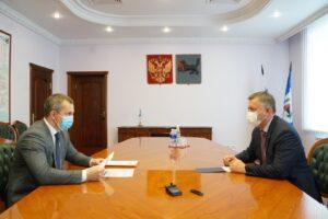 Игорь Кобзев и мэр Шелеховского района обсудили первоочередные задачи для муниципалитета