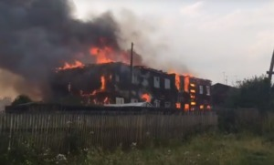 Жилой дом сгорел в Усть-Илимском районе