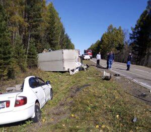 Двухлетняя девочка погибла в ДТП при столкновении грузовика с иномаркой в Братском районе
