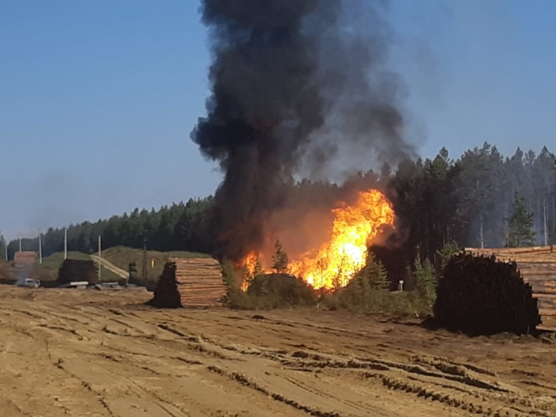 Пожар на газопроводе «Ангарск-Саянск» произошел в Усольском районе