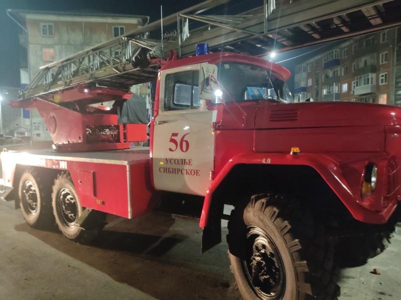 В Усолье спасли 22 человек на пожаре в пятиэтажном доме