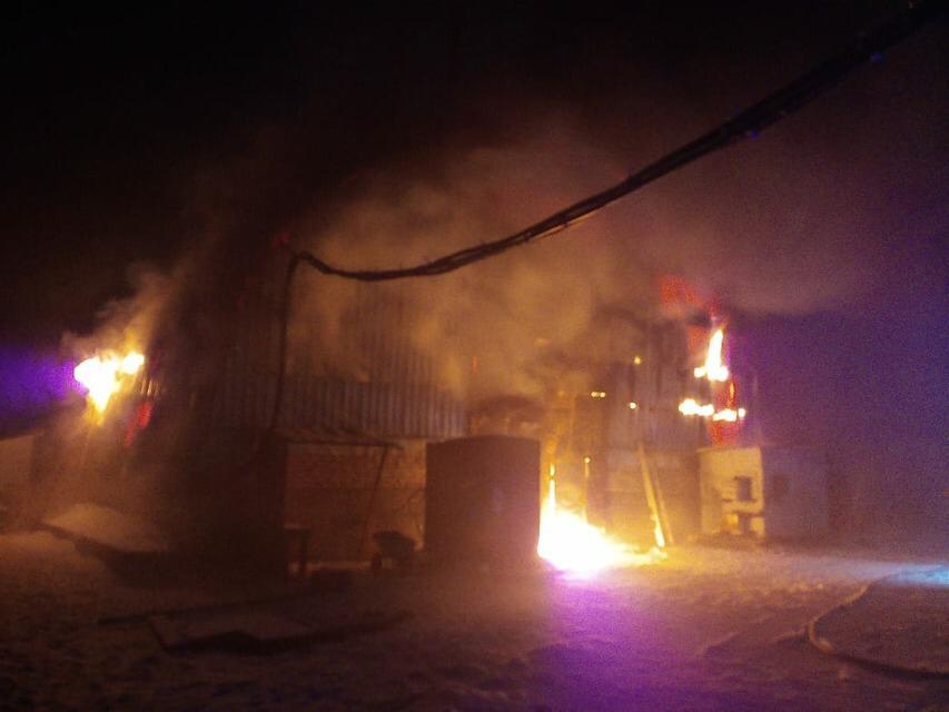 Цех по производству пеллет горел в Усть-Илимском районе 16 ноября
