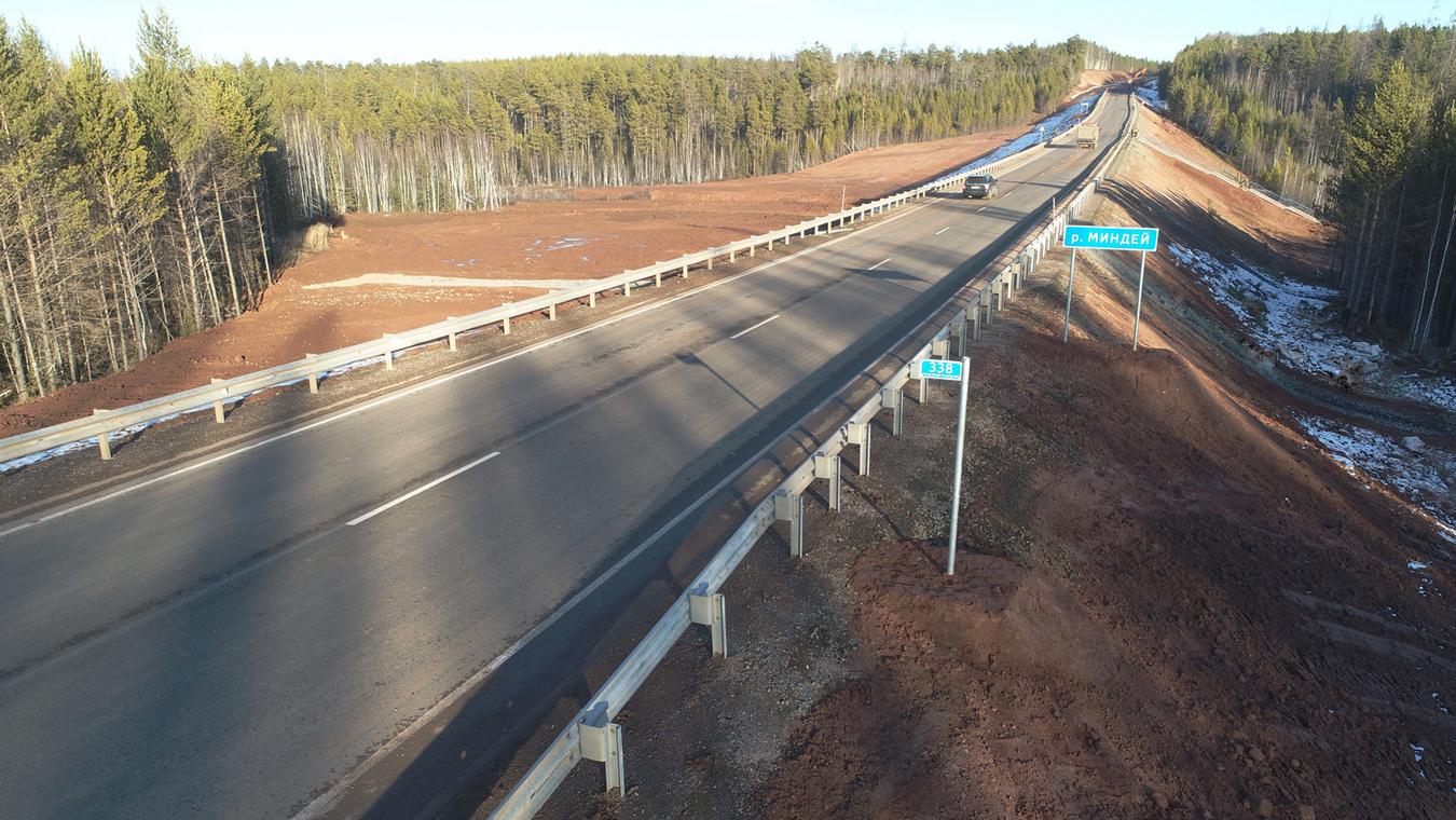 """Восемь километров трассы А-331 """"Вилюй"""" отремонтировали в Иркутской области"""