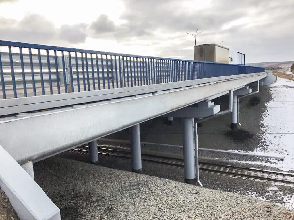 """Путепровод через железную дорогу на трассе """"Вилюй"""" в Братске отремонтировали"""