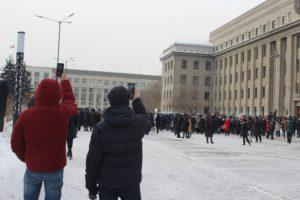 Несанкционированная акция в Иркутске 23 января прошла без столкновений