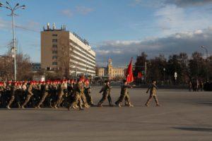 Репетиция Парада Победы в Иркутске. Фото