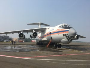 Самолёт Ил-76 прибыл для тушения лесного пожара в Катангском районе Приангарья