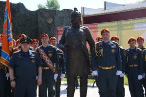 Памятник первому брандмайору города открыли в Иркутске. Фоторепортаж