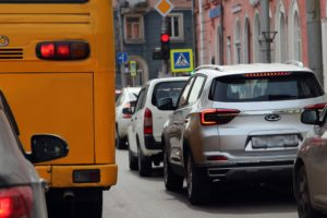 Десятибалльные пробки образовались вечером пятницы 10 сентября в Иркутске
